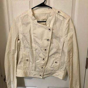 Anthropologie White Button Down Jacket
